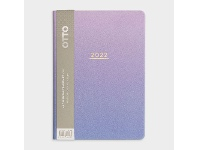 Officeworks Otto A5 Week to View 2022 PU Diary Violet Gradient