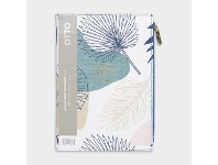 Officeworks Otto A5 Week to View 2022 PU Zip Pocket Diary Palm Tree