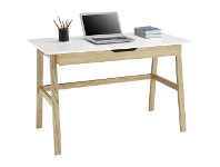 Officeworks Otto Arken Timber 1 Drawer Semi Assembled 1200mm Desk