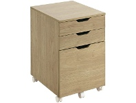 Officeworks Otto Copenhagen 3 Drawer Semi Assembled Filing Pedestal