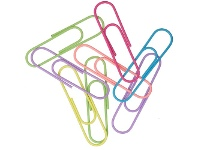 Officeworks Otto Paper Clips 100mm Assorted 8 Pack