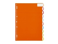 Officeworks Otto A4 10 Tab Index Dividers Matte Laminate FSC
