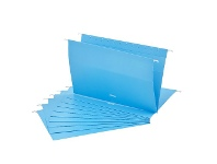 Officeworks Otto Suspension File Foolscap Blue 10 Pack
