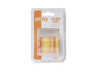 Officeworks Otto Washi Tape Yellow 8 Pack