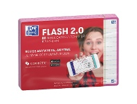 Officeworks Oxford Flash 2.0 Cards Ruled 105 x 148mm Fuchsia 80 Pack