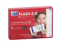 Officeworks Oxford Flash 2.0 Index Cards Blank 105 x 148mm Red 80 Pack