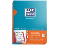 Officeworks Oxford A4 Sheet Protectors Silver Strip 100 Pack