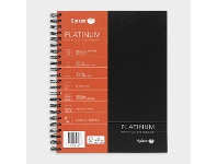 Officeworks Spirax Platinum A4 Notebook 200 Pages Black
