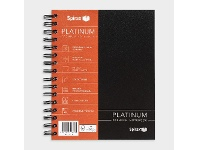 Officeworks Spirax Platinum A5 Notebook 210 Pages Black