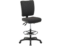 Officeworks Pago Flash High Back Drafting Chair Black