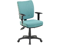 Officeworks Pago Flash II Deluxe Heavy-Duty Ergonomic Chair with Arms Aqua