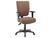 Officeworks Pago Flash II Deluxe Heavy-Duty Ergonomic Chair with Arms Mocha