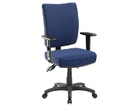 Officeworks Pago Flash II Deluxe Heavy-Duty Ergonomic Chair Arms Dark Navy