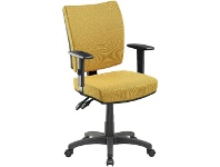 Officeworks Pago Flash II Deluxe Heavy-Duty Ergonomic Chair with Arms Mustard