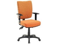 Officeworks Pago Flash II Deluxe Heavy-Duty Ergonomic Chair with Arms Orange