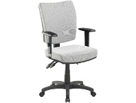 Officeworks Pago Flash II Deluxe Heavy-Duty Ergonomic Chair with Arms Pearl