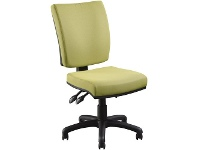 Officeworks Pago Flash II Deluxe Heavy-Duty Ergonomic Chair Olive