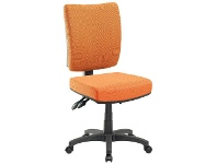 Officeworks Pago Flash II Deluxe Heavy-Duty Ergonomic Chair Orange