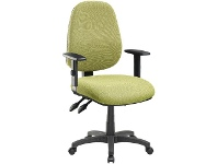 Officeworks Pago Matrix II Plus Heavy-Duty Ergonomic Chair Arms Olive