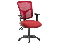 Officeworks Pago Matrix Ergonomic Heavy Duty High Back Armchair Red