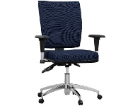 Officeworks Pago Flash II Deluxe Alloy Base Chair Dark Navy