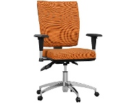 Officeworks Pago Flash II Deluxe Alloy Base Chair Orange