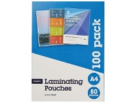 Officeworks J.Burrows A4 Laminating Pouch 100 Pack