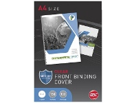 Officeworks GBC A4 Binding Cover 150 Micron Clear 100 Pack