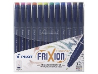 Officeworks Pilot Frixion Erasable Fineliners Assorted 12 Pack