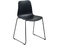 Officeworks Pago Polo Heavy Duty Chair with Black Base and Black Seat