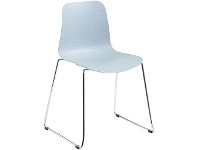 Officeworks Polo Heavy Duty Chair with Chrome Base and Aqua Seat