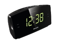 Officeworks Philips AJ3400 LCD Alarm Clock FM Black
