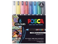 Officeworks POSCA PC1MR Paint Markers 8 Pack Assorted