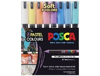 Officeworks POSCA PC1MR Paint Markers 8 Pack Pastel