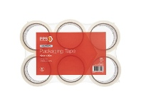 Officeworks PPS 48mm x 50m Light Duty Packaging Tape Clear 6 Pack