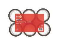 Officeworks PPS 48mm x 50m Light Duty Packaging Tape Brown 6 Pack
