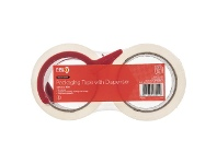 Officeworks PPS 48mm x 50m Heavy Duty Packaging Tape and Dispenser 2 Pack