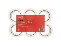 Officeworks PPS Heavy Duty 48mm x 50m Clear Packaging Tape 6 Pack