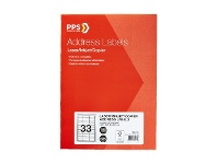 Officeworks PPS Address Labels 33 UP 100 Pack