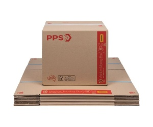 PPS Moving Boxes Medium 406 x 298 x 431mm 10 Pack