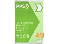 PPS Recycled PPS C4 Plain Faced 100% Recycled Envelopes 100 Pack