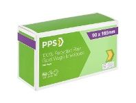 Officeworks PPS Recycled Plain Wages Envelopes 90 x 165mm Gold 100 Pack