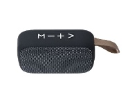 Officeworks Qudo Fabric Bluetooth Speaker Black and Charcoal