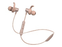 Officeworks Qudo Wireless Sports IPX4 Sweatproof Earphones Rose Gold