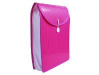 Officeworks J.Burrows Top Load Attache File A4 Pink