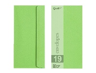 Officeworks Quill DL Envelopes Lime 25 Pack