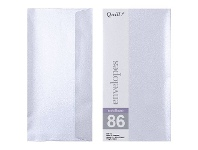 Officeworks Quill DL Envelopes Metallique Silver Shadow 10 Pack