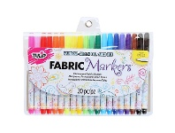 Officeworks Tulip Fine Tip Fabric Markers 20 Pack