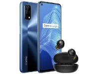 Officeworks Realme 7 5G Smartphone Bundle with Wireless Buds 128GB Blue