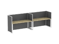 Officeworks Stilford S2 Side by Side Desks 1800x750 with Screens